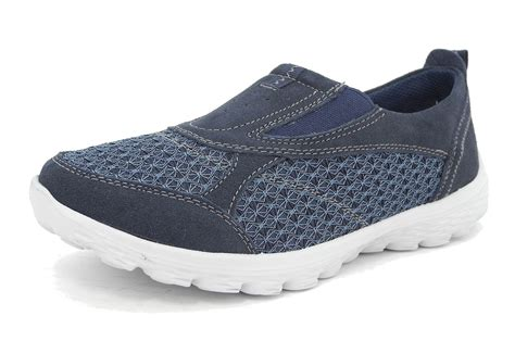 Womens Arch Support Lightweight Leather Mesh Shoes Pumps