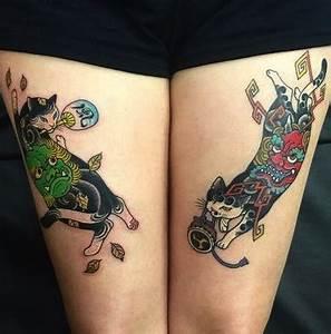 Signification Animaux Tatouage : tatouage chat tatouages chats japonais diaporama animaux doctissimo ~ Dode.kayakingforconservation.com Idées de Décoration