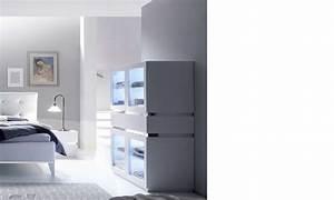 Commode Chambre Adulte : commode design blanche et chrome chambre adulte arla ~ Teatrodelosmanantiales.com Idées de Décoration