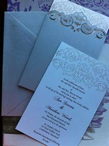 wedding invitation lasercut pocket simple swirls With wedding invitation pocket sleeves