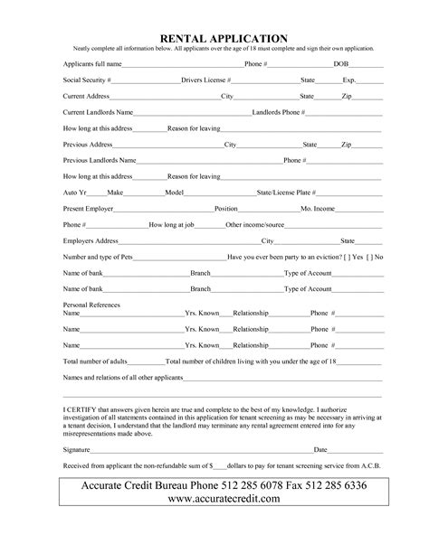 simple lease form simple rental agreement form