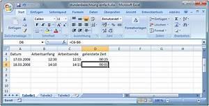 Excel Arbeitszeit Berechnen Formel : berechnungen mit zeiten in excel durchf hren bsp arbeitszeiten ~ Themetempest.com Abrechnung