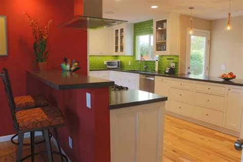 pictures of tile countertops for kitchens clean white cabinets complement lime green backsplash 9135