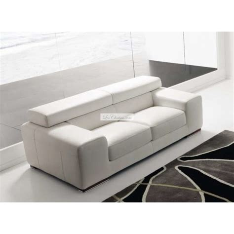 canapé cuir blanc design canapé en cuir design sirio par rosini et canapés cuir