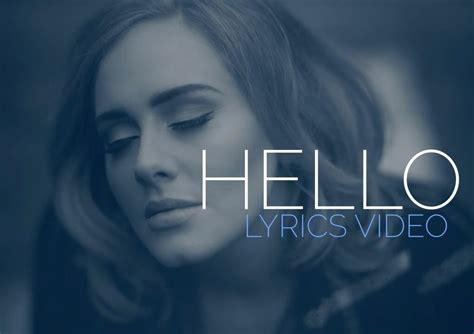 Unrequited love (& other clichés). Adele - Hello Official Lyric Video 2015 | Hello youtube, Adele hello, Hello lyrics
