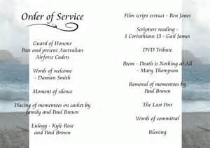wedding ceremony bulletin 7 funeral order of service templateagenda template sle