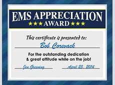 Free EMS & EMT Week Certificates & Poster Downloads