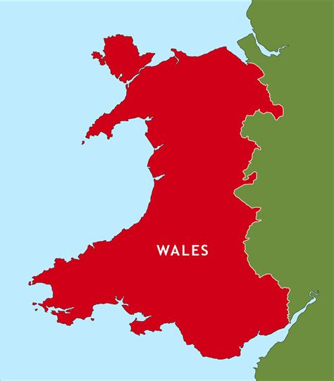 wales outline map royalty  editable vector map maproom