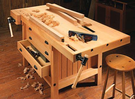 heavy duty plank workbench woodworking project
