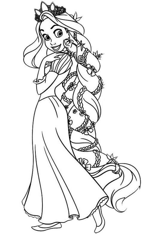 rapunzel amazing hair  rapunzel coloring page amazing