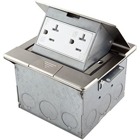 Enerlites 661241 S Stainless Steel Square Pop Up Floor Box