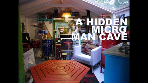hidden micro man cave cabin american pickers style tiny house youtube