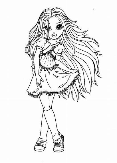 Coloring Pages Moxie Girlz Adult Pretty Printable
