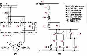 What Is Control Circuit For Star- Delta Starter Of A 3 Phase Motor