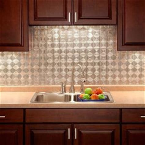 kitchen backsplash home depot fasade 24 in x 18 in miniquattro pvc decorative 5037