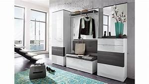 Schuhschrank Grau Weiß : schuhschrank reno schrank in wei hochglanz und grau ~ Indierocktalk.com Haus und Dekorationen