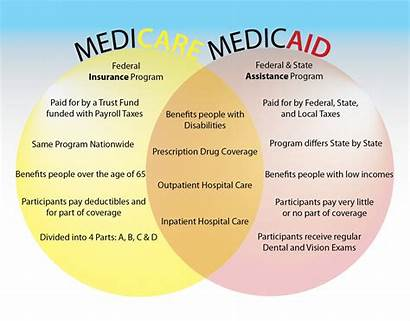 Medicare Medicaid Difference Between Versus Infographic Chart