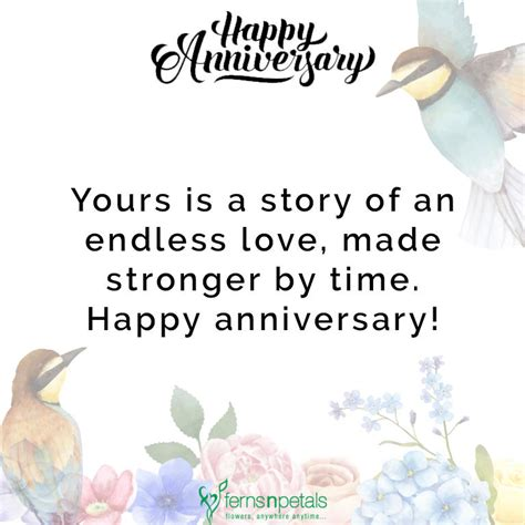 happy anniversary wishes quotes  messages ferns  petals