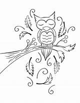 Coloring Owl Sleeping Sleep Glennie Bed Printable sketch template
