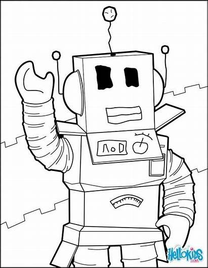 Roblox Coloring Pages Printable Noob Robot Rysunki