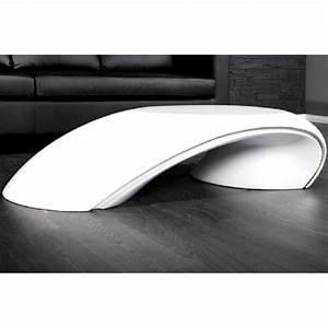 Table Basse Blanche Design : table basse led les bons plans de micromonde ~ Teatrodelosmanantiales.com Idées de Décoration