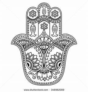 Vector hamsa hand drawn symbol | Ideas for Sgraffito ...