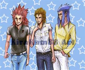 Axel,Demyx and Saix commission by kirakam on DeviantArt