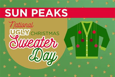 national sweater day national sweater day 2017 sun peaks resort