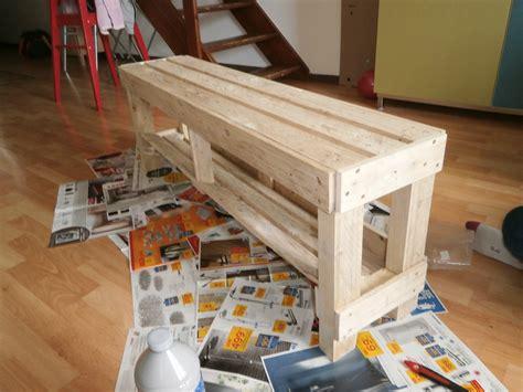 banc de cuisine en bois banc en bois de palette c comme creation