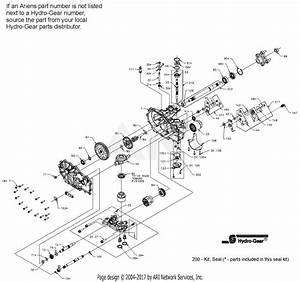 Ariens 991065  000101 -   Max Zoom 2552 Parts Diagram For Hydro-gear Hydrostatic Pump