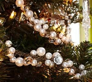 pearl christmas tree garland from pb winter decor pinterest