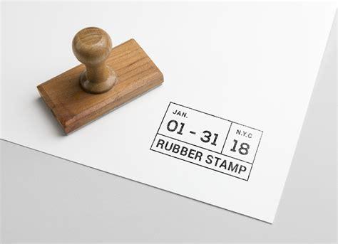 rectangle rubber stamp mockup psd good mockups