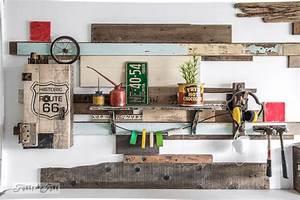 Garage Route 66 : historic route 66 stencil with pallet wood storage cabinetfunky junk interiors ~ Medecine-chirurgie-esthetiques.com Avis de Voitures