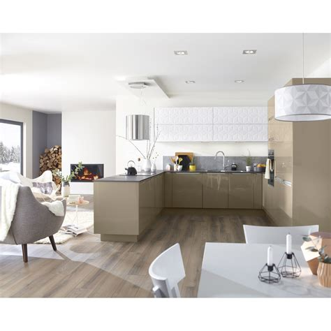 meuble cuisine couleur taupe meuble de cuisine taupe delinia leroy merlin
