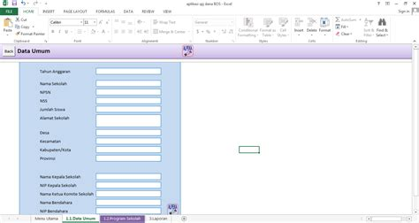 aplikasi pengolahan dana bos 2015 format excel format guru