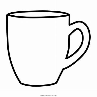 Mug Drawing Coloring Coffee Colorir Becher Clip