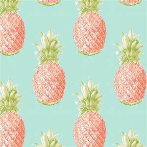 Fine Decor Pineapple Orange Wallpaper at Homebase co uk