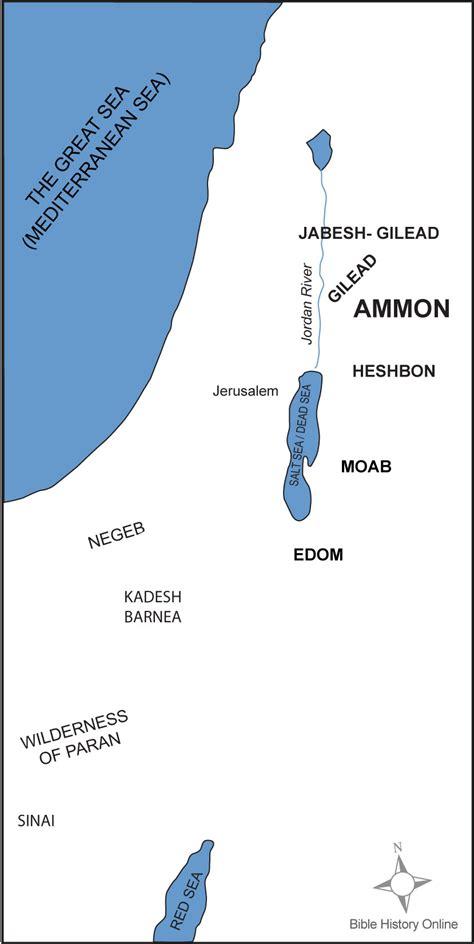 map   ammonites territory bible history