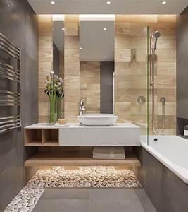 Carrelages Salle De Bain : salle de bain beige et gris pierre deviendra sable ~ Melissatoandfro.com Idées de Décoration
