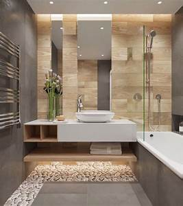 idee decoration salle de bain salle de bain moderne With decoration mur salle de bain
