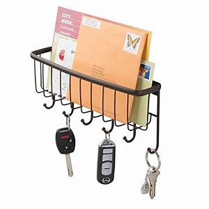 mdesign mail letter holder key rack organizer for With wall letter rack hallway