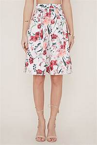 Forever 21 Floral A-line Skirt in Pink   Lyst