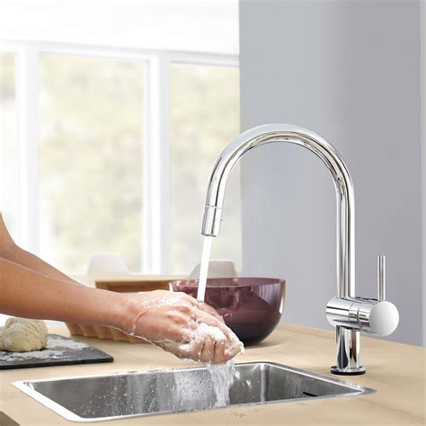 grohe kitchen faucets amazon grohe 31359dc0 minta touch pull spray kitchen