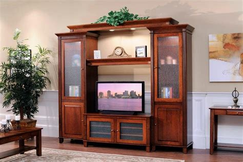 amish modular entertainment center wall unit