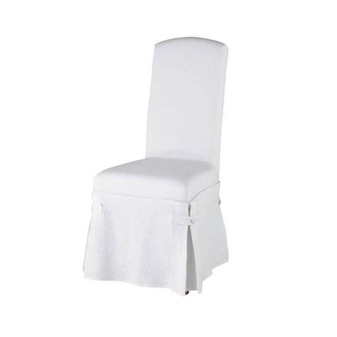 housse de chaise chic housse longue de chaise en blanche maisons du