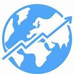 Economy Icon Global Growth Ocean Transparent Economic