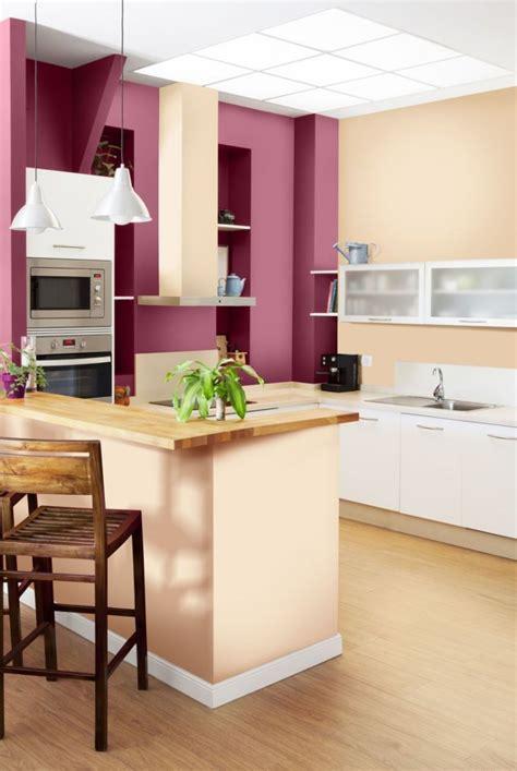 couleur de peinture pour cuisine peinture murale 105 idées couleurs pour la maison