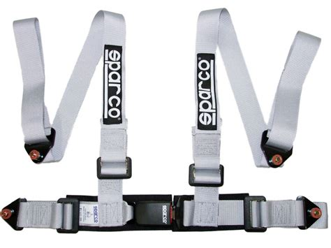 sparco racing 4 point bolt in 2 quot seat belt harness