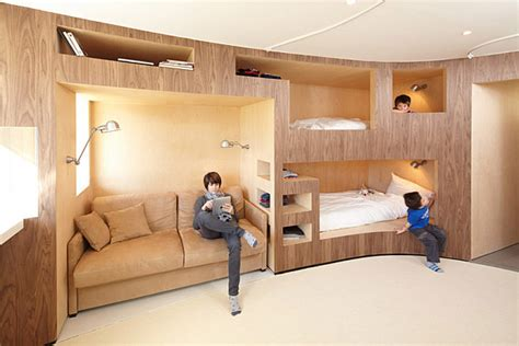 innovative bunk bed designs innovative wooden wall with several bunk beds decoist