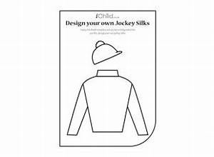 using this top and hat template your child can design and With jockey silks template